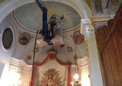 ripristino affreschi chiesa