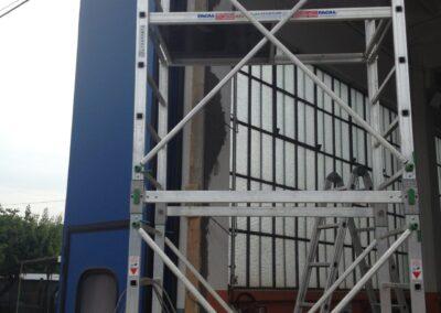 rifacimento colonna capannone