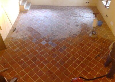 pulizia pavimentazione cotto